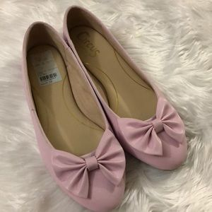 Cute Baby Pink Bow Flats